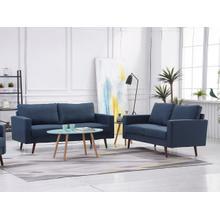 See Details - 8125 2PC NAVY Linen Stationary Basic Living Room SET