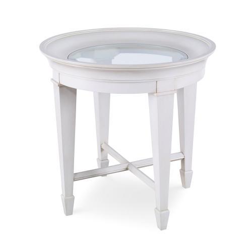 Luna End Table - Linen