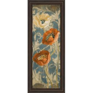 """Poppies De Bleu II"" By Lanie Loreth Framed Painted Print Wall Art"