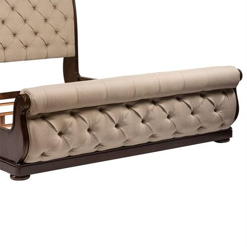 Queen Upholstered Sleigh Footboard