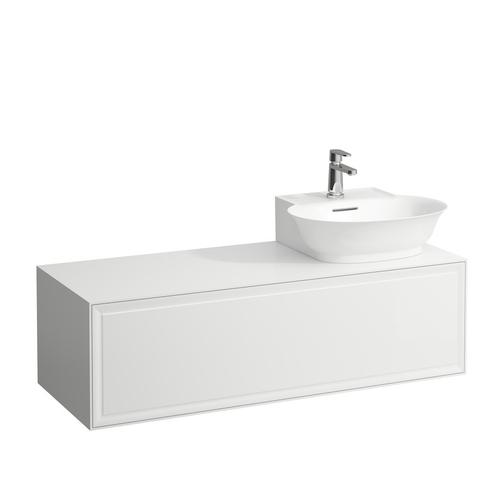 Traffic Grey Drawer element 1200, 1 drawer, cut-out right, matches small washbasin 816852