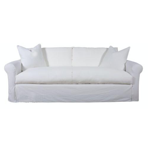 Roll Arm, Plush Depth, Two Cushion, King Slipcover Sofa.