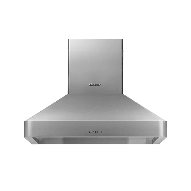 """Dacor 36"""" Chimney Wall Hood, Silver Stainless Steel"""