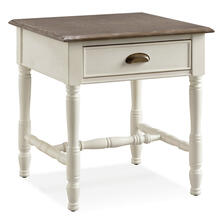 View Product - Toscana Drawer End Table with Wood Cup Pull #11707