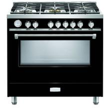 "Gloss Black 36"" Designer Gas Range"