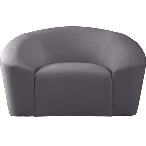 "Riley Velvet Chair - 49"" W x 35.5"" D x 29.5"" H"