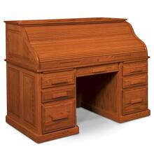 """See Details - Classic Rolltop Desk, 57""""w x 31""""d x 48""""h with Hutch Top"""