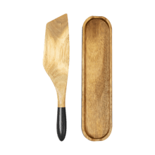 Mad Hungry 2-Piece Acacia Wood Spurtle Set, Black