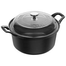 Staub Cast Iron 2.75-qt Round La Coquette with Glass Lid - Graphite Grey