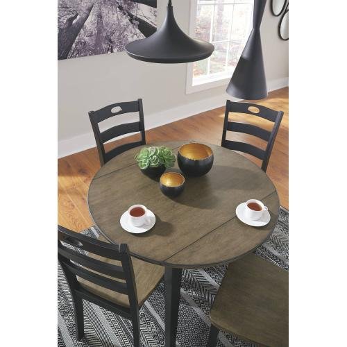 D338  Round Drop Leaf Table with 2 Chairs (other chairs available)