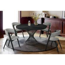 Cirque and Rowan 5 Piece Black Round Dining Set