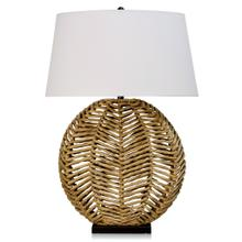 WATER HYANCINTH TABLE LAMP  24in w X 35in ht X 10in d  Natural Hyacinth Branches Base with White L