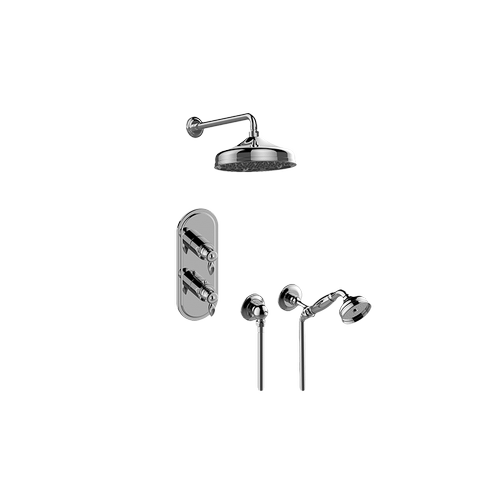 Topaz M-Series Thermostatic Shower System - Shower with Handshower