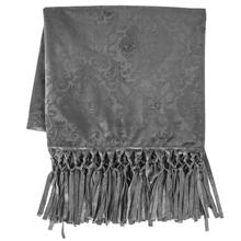 Diane Embossed Velvet Throw Blanket - 2 Colors - Gray