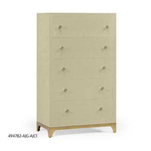 British Navy tall chest with blazer buttons