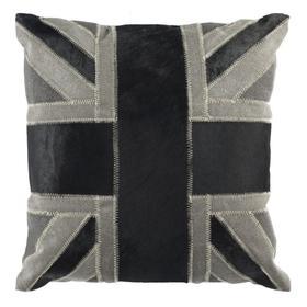 Bristol Cowhide Pillow - Grey / Black