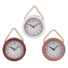 See Details - Small Wall Clock with Beaded Hanger (3 pc. ppk.)
