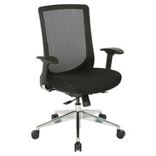 High Back Black Vertical Mesh Chair