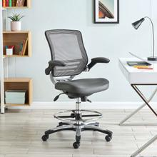 See Details - Edge Drafting Chair in Gray
