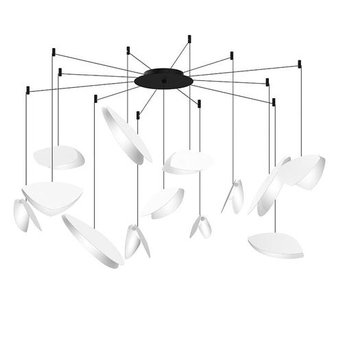 Sonneman - A Way of Light - Papillons LED Pendant [Size=13-Light Swag, Color/Finish=Satin White Shade]