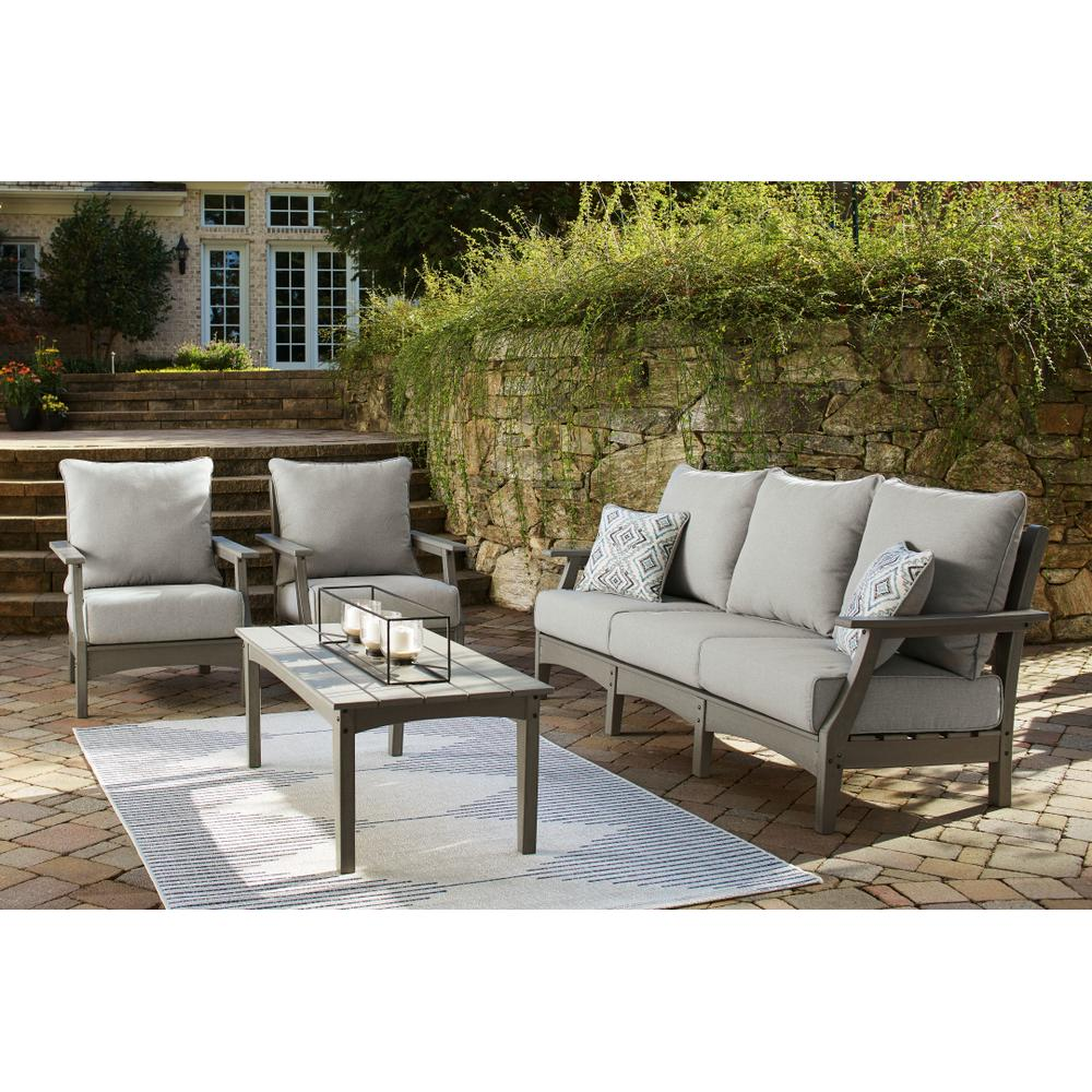 Outdoor Sofa and 2 Chairs With Coffee Table