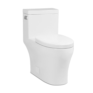 White MUSE II One-Piece Toilet, Side-Mount Lever Product Image