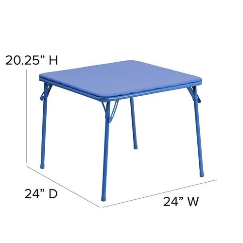 Flash Furniture - Kids Colorful 3 Piece Folding Table and Chair Set