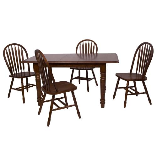 Product Image - Butterfly Dining Set w/Arrowback Chairs (5 Piece)
