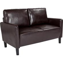See Details - Washington Park Upholstered Loveseat in Brown LeatherSoft