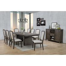 DLU-CA113 Collection  10 Piece Extendable Dining Table Set with Server