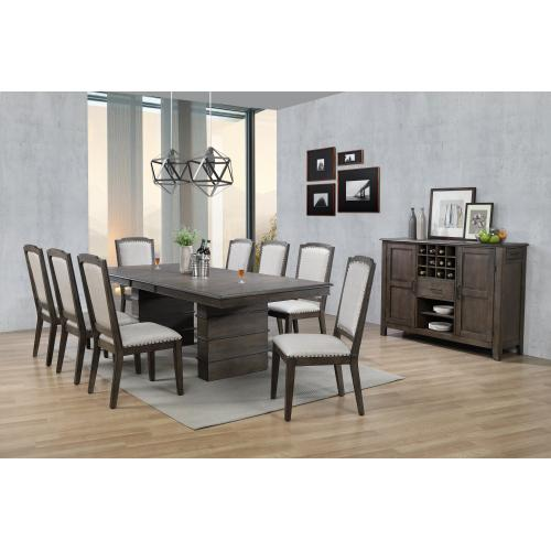 Extendable Dining Table Set w/Server - Cali Dining (10 Piece)
