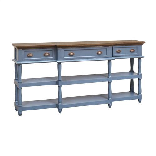Simpson 4-drawer Console Table In Blue