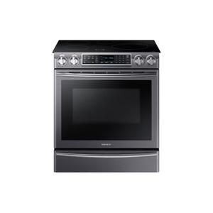 Samsung5.8 cu. ft. Slide-In Induction Range with Virtual Flame(TM) in Black Stainless Steel