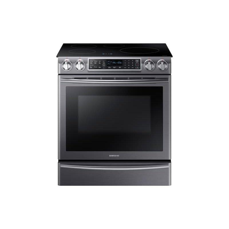 5.8 cu ft. Smart Slide-in Induction Range with Virtual Flame™ in Black Stainless Steel