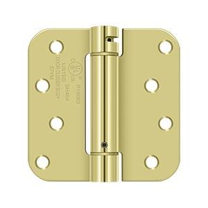 "4"" x 4"" x 5/8"" Spring Hinge, UL Listed - Polished Brass"