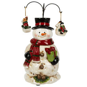 Snowman Light Up Musical Figurine