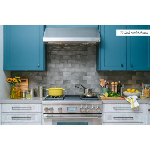 Thermador - Low-Profile Wall Hood 48'' Stainless Steel HMWB481WS