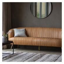 GA Valenza Sofa Brown Leather