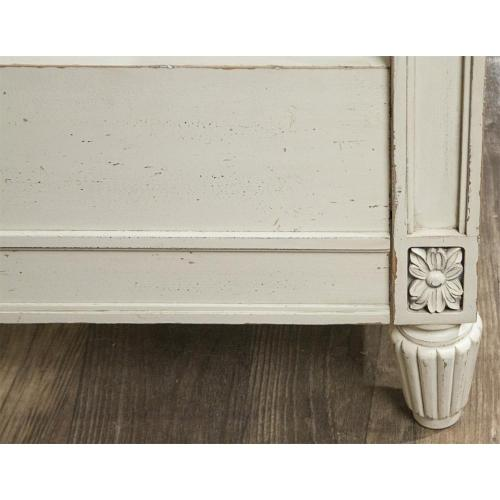 Huntleigh - Queen Carved Footboard - Vintage White Finish