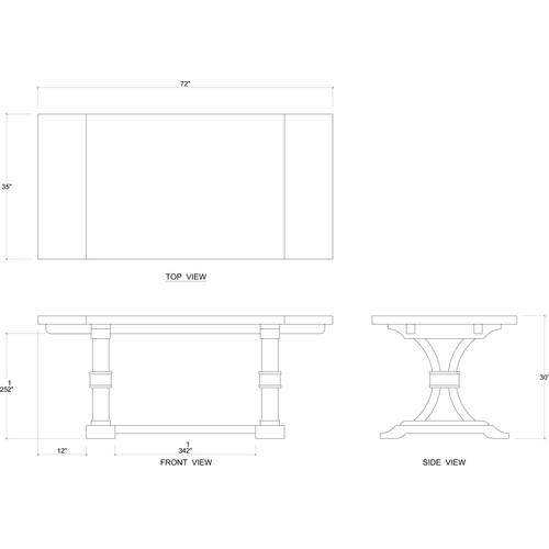 Product Image - Archer Mahogany Dining Table 72''
