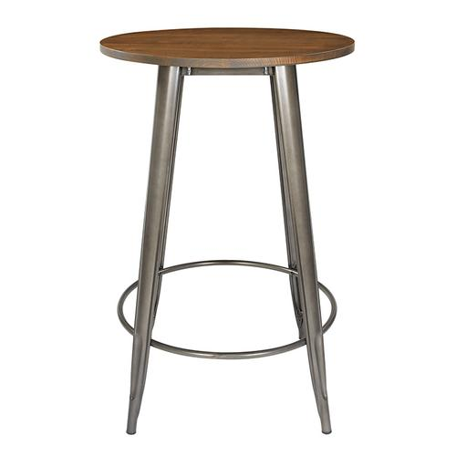 """30"""" Gunmetal Grey Counter Height Table With Ash Wood Table"""