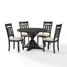 HAYDEN 5PC ROUND DINING SET