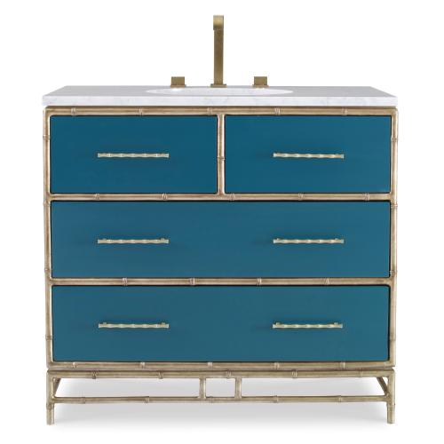 Chinoiserie Sink Chest - Peacock