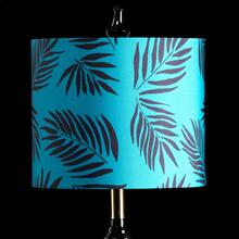TEAL PALM MIXOLOGY SHADE  SMALL  10in X 12in  Available in three sizes this lighting collection