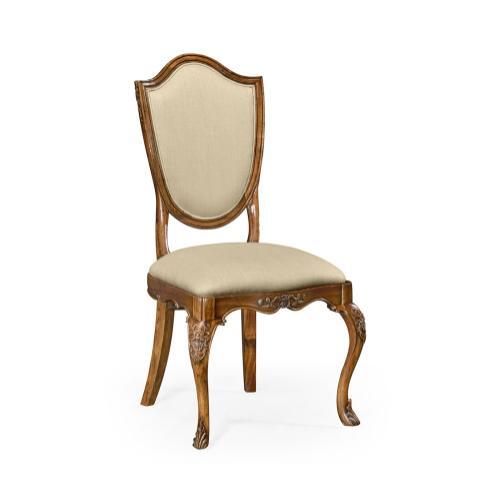 Upholstered shield back chair (Side)