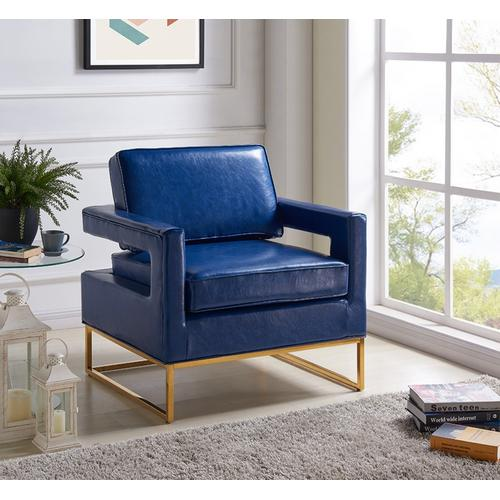 """Amelia Leather Accent Chair - 33"""" W x 29"""" D x 35"""" H"""