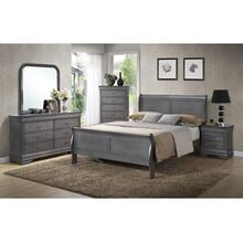 GREY LOUIS PHILIPPE 5 DRAWER CHEST