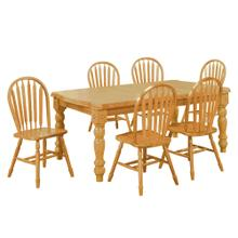 Product Image - Extendable Dining Set with Arrow Back Chairs (7 Piece)
