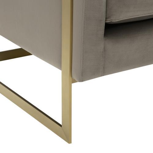Modern Gold Frame Gray Accent Chair