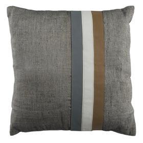 Kent Cowhide Pillow - Gey / White / Beige